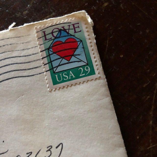 canceled stamp on letter